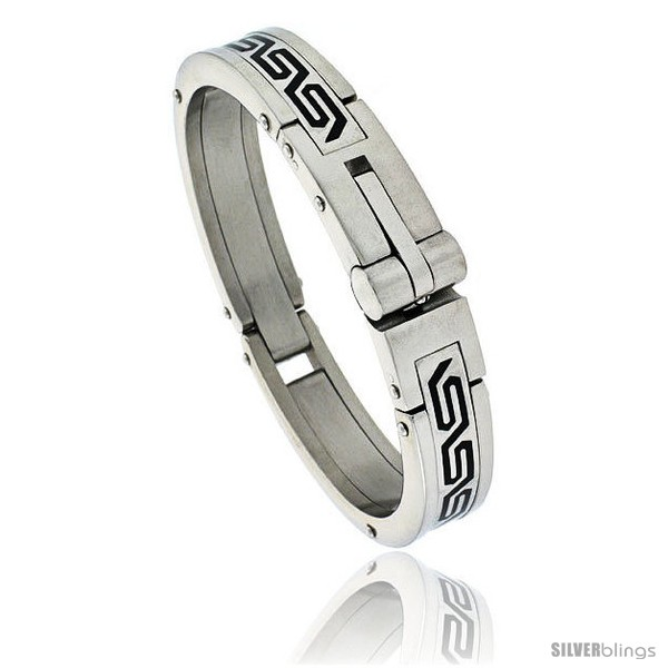 https://www.silverblings.com/452-thickbox_default/gents-stainless-steel-bangle-bracelet-w-greek-key-pattern-5-8-in-wide.jpg