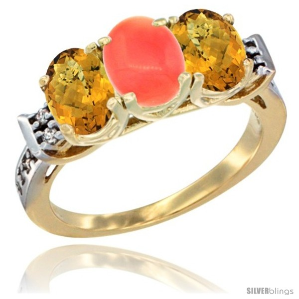 https://www.silverblings.com/45617-thickbox_default/10k-yellow-gold-natural-coral-whisky-quartz-sides-ring-3-stone-oval-7x5-mm-diamond-accent.jpg