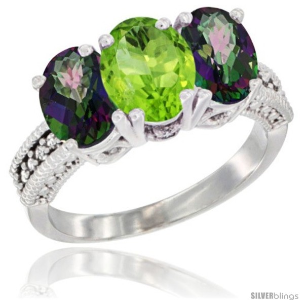 https://www.silverblings.com/4576-thickbox_default/10k-white-gold-natural-peridot-mystic-topaz-sides-ring-3-stone-oval-7x5-mm-diamond-accent.jpg