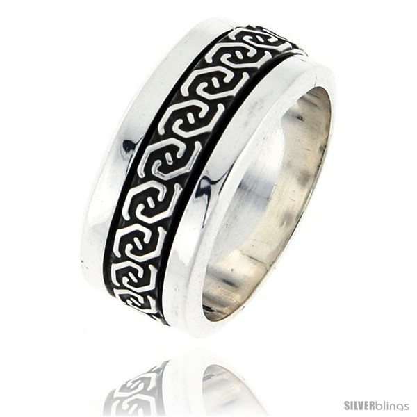 Sterling Silver Men S Spinner Ring Celtic Knot Design