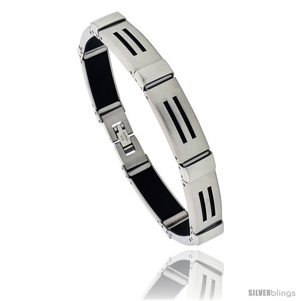 https://www.silverblings.com/460-thickbox_default/stainless-steel-and-rubber-bracelet-8-in-long-style-bss12.jpg