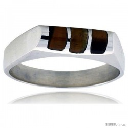 Sterling Silver Striped Tiger Eye Ring