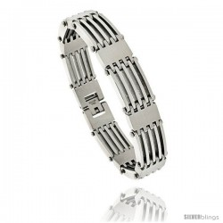 Gent's Stainless Steel Bar Bracelet, 5/8 in wide, 8 1/2 in long