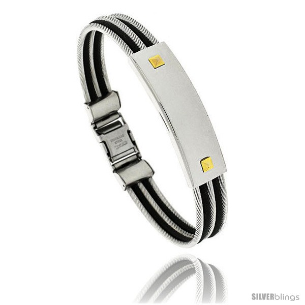 https://www.silverblings.com/464-thickbox_default/gents-stainless-steel-cable-rubber-id-bangle-bracelet-1-2-in-wide-8-1-2-in-long.jpg