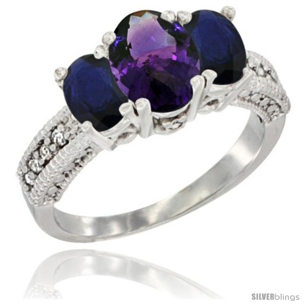 https://www.silverblings.com/46445-thickbox_default/14k-white-gold-ladies-oval-natural-amethyst-3-stone-ring-blue-sapphire-sides-diamond-accent.jpg