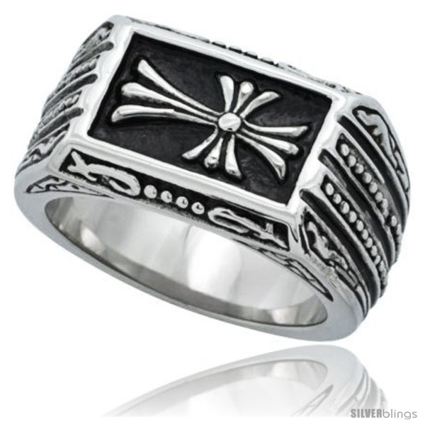 https://www.silverblings.com/4772-thickbox_default/surgical-steel-biker-ring-cross-patonce-1-in-long-style-rss189.jpg