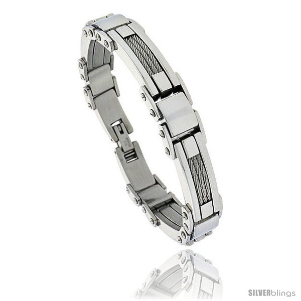 https://www.silverblings.com/480-thickbox_default/gents-stainless-steel-cable-bar-bracelet-1-2-in-wide-9-in-long-style-bss129.jpg