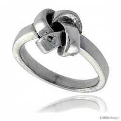 Sterling Silver Love Knot Ring 3/8 in wide