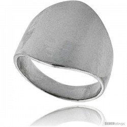 Sterling Silver Classic Cigar Band Ring 3/4 in long