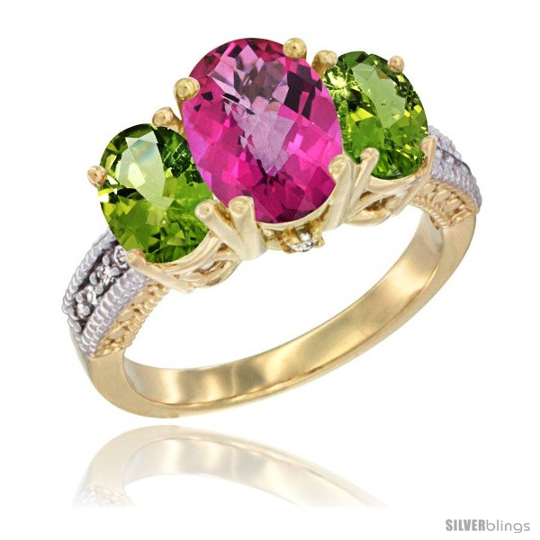 https://www.silverblings.com/48632-thickbox_default/14k-yellow-gold-ladies-3-stone-oval-natural-pink-topaz-ring-peridot-sides-diamond-accent.jpg