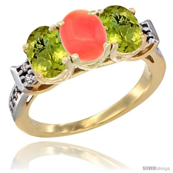 https://www.silverblings.com/48728-thickbox_default/10k-yellow-gold-natural-coral-lemon-quartz-sides-ring-3-stone-oval-7x5-mm-diamond-accent.jpg