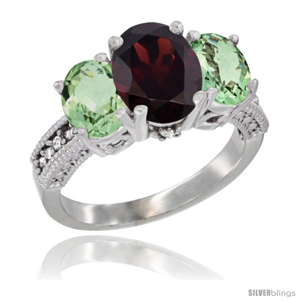https://www.silverblings.com/48749-thickbox_default/10k-white-gold-ladies-natural-garnet-oval-3-stone-ring-green-amethyst-sides-diamond-accent.jpg