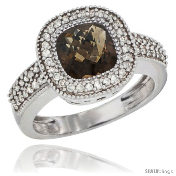 https://www.silverblings.com/488-thickbox_default/10k-white-gold-natural-smoky-topaz-ring-cushion-cut-7x7-stone-diamond-accent.jpg