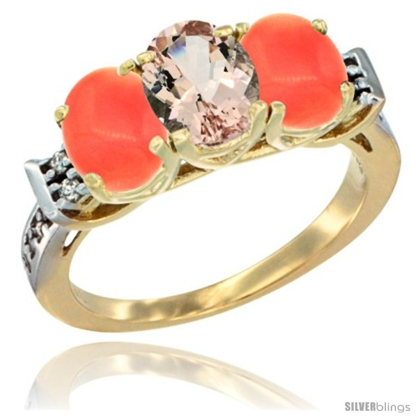https://www.silverblings.com/49440-thickbox_default/10k-yellow-gold-natural-morganite-coral-sides-ring-3-stone-oval-7x5-mm-diamond-accent.jpg