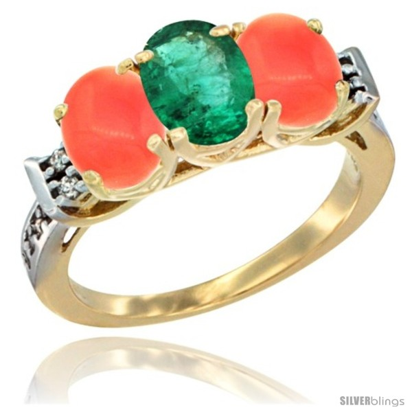 https://www.silverblings.com/49444-thickbox_default/10k-yellow-gold-natural-emerald-coral-sides-ring-3-stone-oval-7x5-mm-diamond-accent.jpg