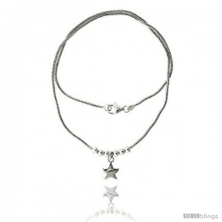Sterling Silver Necklace / Bracelet with Star Pendant