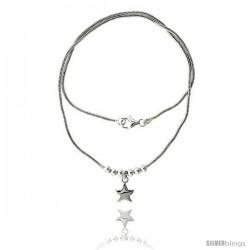 Sterling Silver Necklace / Bracelet with Star Pendant