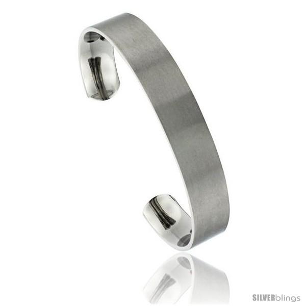 https://www.silverblings.com/49642-thickbox_default/titanium-flat-cuff-bangle-bracelet-gold-dot-ends-matte-finish-comfort-fit-8-in-long-12-mm-1-2-in-wide.jpg