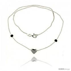 Sterling Silver Necklace / Bracelet with a Heart Slide