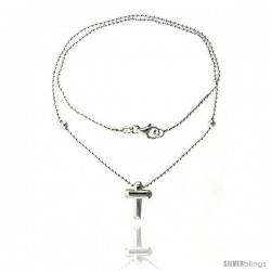 Sterling Silver Necklace / Bracelet with a Cross Slide