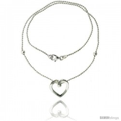 Sterling Silver Necklace / Bracelet with a Heart Slide -Style Yn25