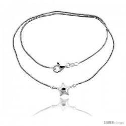 Sterling Silver Necklace / Bracelet with Star Slide