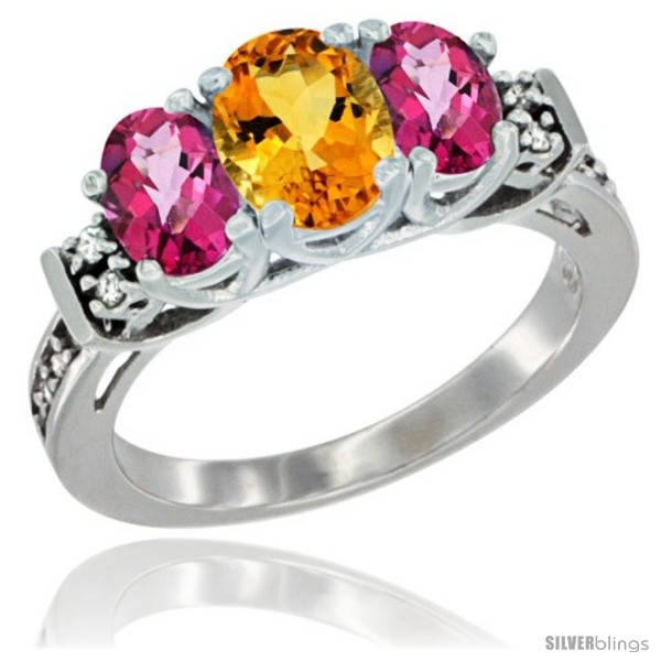 https://www.silverblings.com/49807-thickbox_default/14k-white-gold-natural-citrine-pink-topaz-ring-3-stone-oval-diamond-accent.jpg