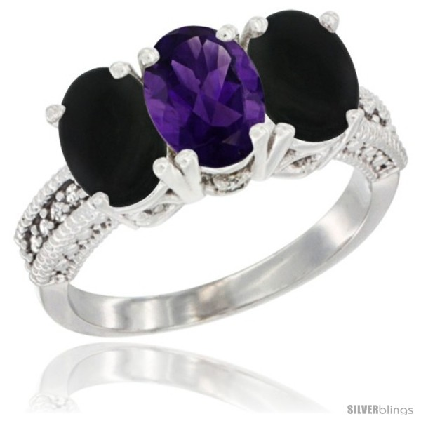 https://www.silverblings.com/50584-thickbox_default/14k-white-gold-natural-amethyst-black-onyx-sides-ring-3-stone-7x5-mm-oval-diamond-accent.jpg