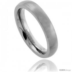 Titanium 6mm Domed Wedding Band / Thumb Ring Matte Finish Comfort-fit