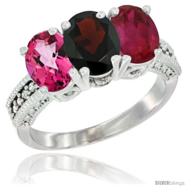 https://www.silverblings.com/50942-thickbox_default/14k-white-gold-natural-pink-topaz-garnet-ruby-ring-3-stone-7x5-mm-oval-diamond-accent.jpg