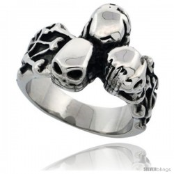 Surgical Steel Biker Ring Bone yard 5/8 in long