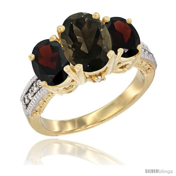 https://www.silverblings.com/51389-thickbox_default/10k-yellow-gold-ladies-3-stone-oval-natural-smoky-topaz-ring-garnet-sides-diamond-accent.jpg