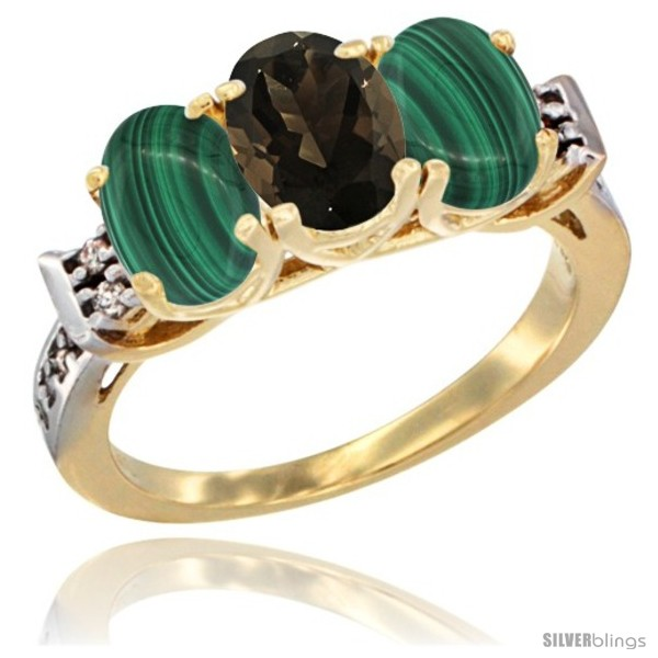 https://www.silverblings.com/51414-thickbox_default/10k-yellow-gold-natural-smoky-topaz-malachite-sides-ring-3-stone-oval-7x5-mm-diamond-accent.jpg