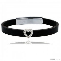 Sterling Silver HEART with CZ
