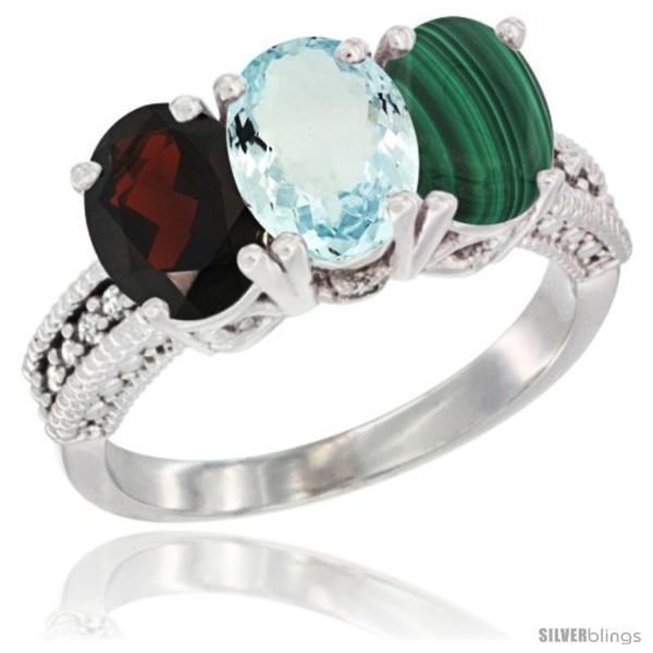https://www.silverblings.com/5216-thickbox_default/14k-white-gold-natural-garnet-aquamarine-malachite-ring-3-stone-7x5-mm-oval-diamond-accent.jpg
