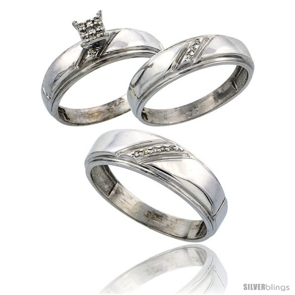 Wedding Rings For Him And Hers Trio Palm