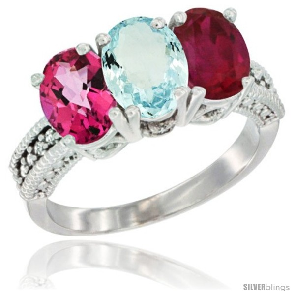 https://www.silverblings.com/52531-thickbox_default/14k-white-gold-natural-pink-topaz-aquamarine-ruby-ring-3-stone-7x5-mm-oval-diamond-accent.jpg