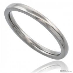 Titanium 2mm Domed Wedding Band Thumb Toe Ring Polished finish Comfort-fit