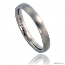 Titanium 3mm Domed Wedding Band / Thumb Ring Matte finish Comfort-fit