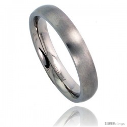 Titanium 4mm Domed Wedding Band / Thumb Ring Matte finish Comfort-fit