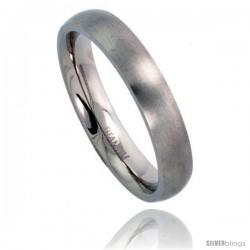 Titanium 4mm Domed Wedding Band / Thumb Ring Matte finish Comfort-fit