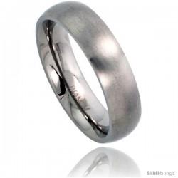 Titanium 5mm Domed Wedding Band / Thumb Ring Matte finish Comfort-fit