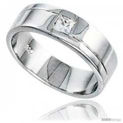 Gent's Perfect Quality Sterling Silver Brilliant Cut Cubic Zirconia Ring -Style Rcz543