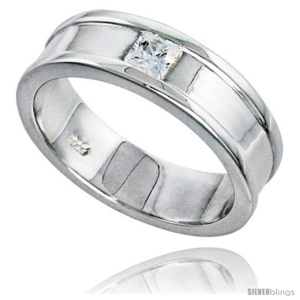 Available in Sizes 8 to 13 Gents Perfect Quality Sterling Silver Brilliant Cut Cubic Zirconia Ring size 9