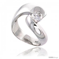 Sterling Silver High Quality Brilliant Cut CZ Ladies Ring