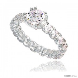 Sterling Silver High Quality Brilliant Cut CZ Ladies Ring -Style Rcz548