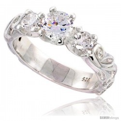 Sterling Silver High Quality Brilliant Cut CZ Ladies Ring -Style Rcz549