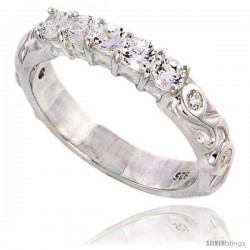Sterling Silver High Quality Brilliant Cut CZ Ladies Ring -Style Rcz550
