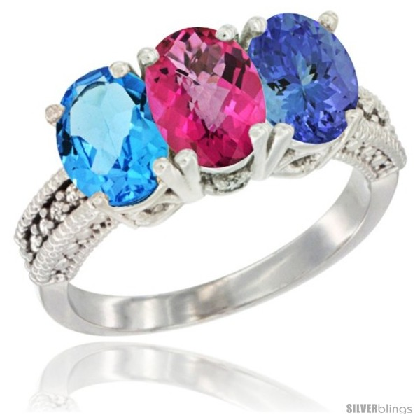 https://www.silverblings.com/53107-thickbox_default/10k-white-gold-natural-swiss-blue-topaz-pink-topaz-tanzanite-ring-3-stone-oval-7x5-mm-diamond-accent.jpg