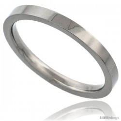 Titanium 2mm Flat Wedding Band Thumb / Toe Ring Matte finish Comfort-fit